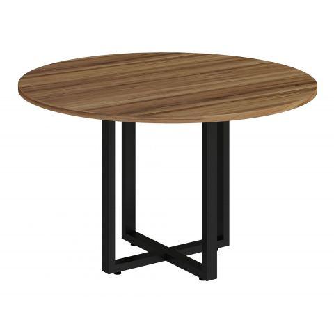 Móveis para Escritório: Mesa de reunião circular, com pé quadro, express - Gebb Work