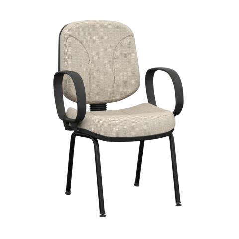 Móveis para Escritório: Cadeira operativa diretor fixa 4 pés - Plaxmetal