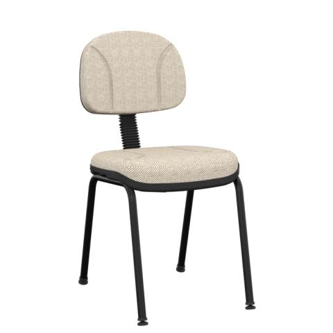 Móveis para Escritório: Cadeira operativa secretária fixa 4 pés  - Plaxmetal