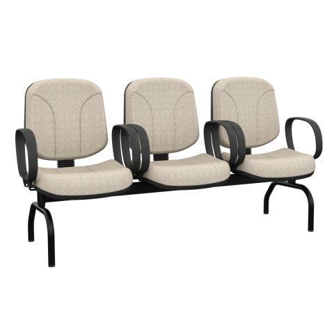 Móveis para Escritório: Cadeira operativa longarina diretor - Plaxmetal
