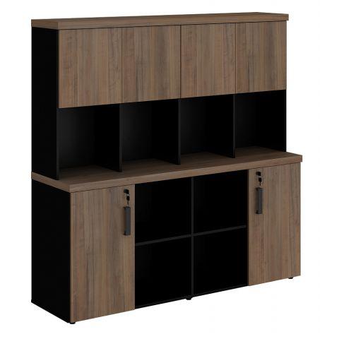 Móveis para Escritório: Armário estante com 06 portas, prius - Gebb Work