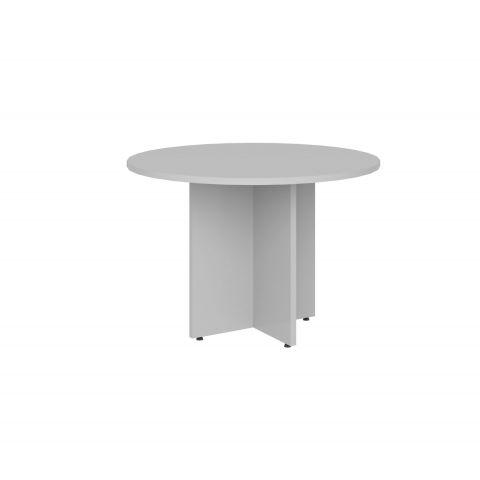 Móveis para Escritório: Mesa de reunião circular, com pé painel, Lexus - Gebb Work