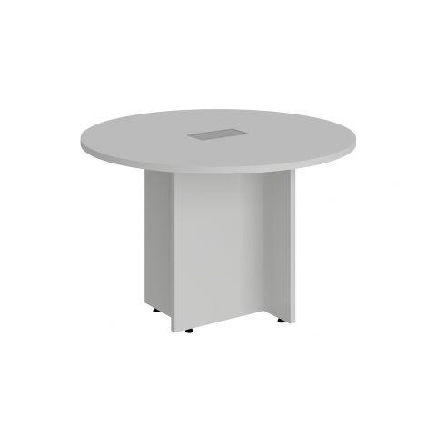 Móveis para Escritório: Mesa de reunião circular, com pé painel e caixa de tomada, Lexus - Gebb Work