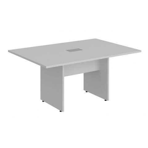 Móveis para Escritório: Mesa de reunião retangular, com pé painel e 01 caixa de tomada, Lexus - Gebb Work