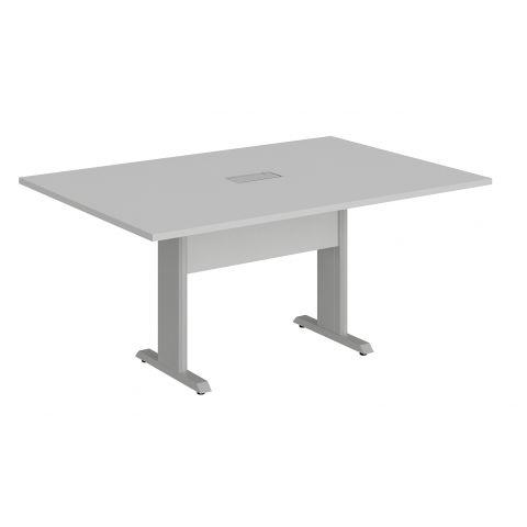 Móveis para Escritório: Mesa de reunião retangular, com 01 caixa de tomada - pé metálico, Lexus - Gebb Work