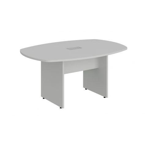 Móveis para Escritório: Mesa de reunião bote,com 01 caixa de tomada - pé painel,  Lexus -  Gebb Work