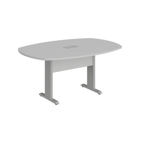 Móveis para Escritório: Mesa de reunião bote - pé metálico, com 01 caixa de tomada, Lexus -  Gebb Work