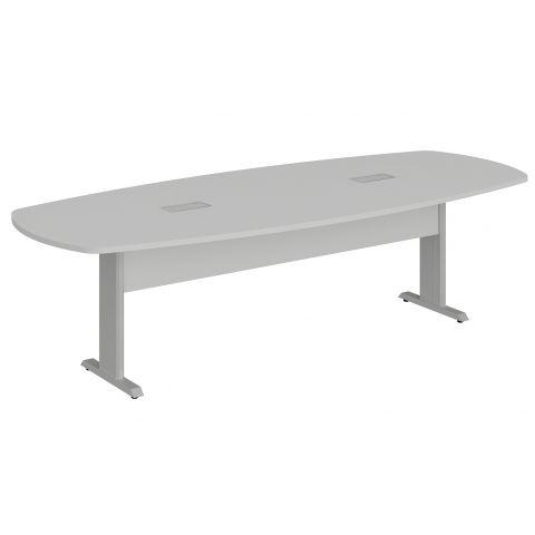 Móveis para Escritório: Mesa de reunião bote - pé metálico, com 02 caixas de tomadas, Lexus -  Gebb Work