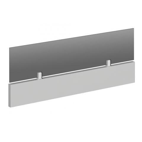 Móveis para Escritório: Painel divisor frontal madeira/vidro, Lexus - Gebb Work
