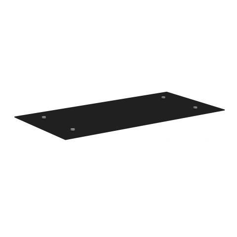 Móveis para Escritório: Vidro temperado preto para mesa auxiliar, Start - Gebb Work