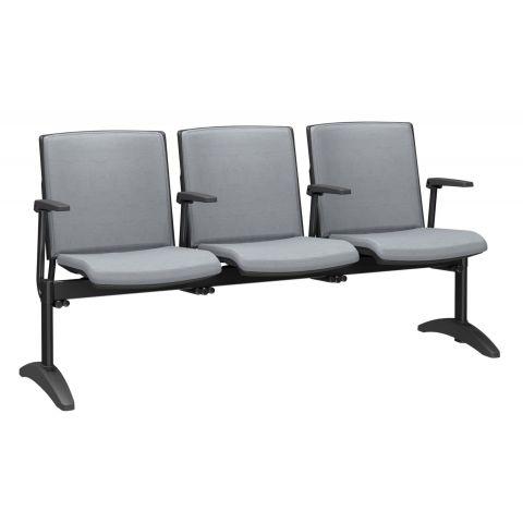 Móveis para Escritório: Cadeira longarina, Audiplax - Plaxmetal