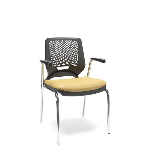 Móveis para Escritório: Cadeira 04 pés, Beezi - Plaxmetal