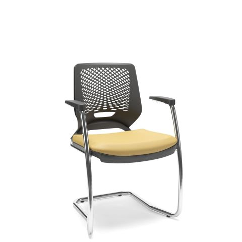Móveis para Escritório: Cadeira aproximação em S, Beezi - Plaaxmetal