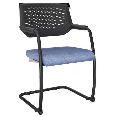 Móveis para Escritório: Cadeira aproximação em S,  com rodízio, Piena - Plaaxmetal