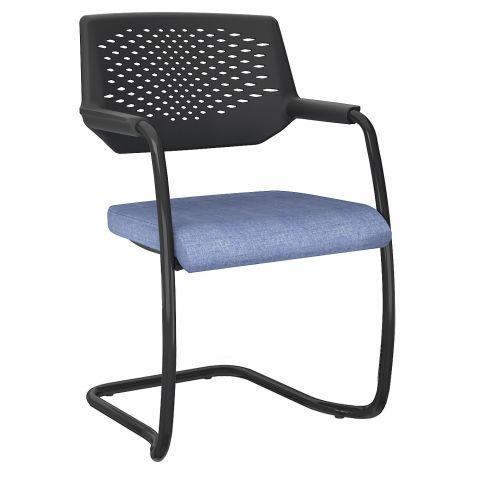 Móveis para Escritório: Cadeira aproximação em S, empilhável, Piena - Plaaxmetal