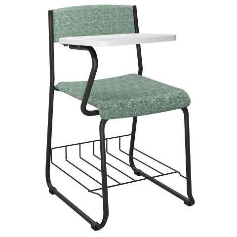 Móveis para Escritório: Cadeira fixa com prancheta lateral, Slytus - Plaxmetal