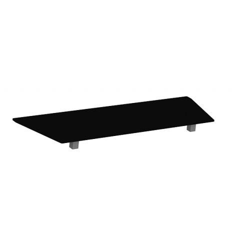 Móveis para Escritório: Vidro preto para armário baixo, Edge -Gebb Work
