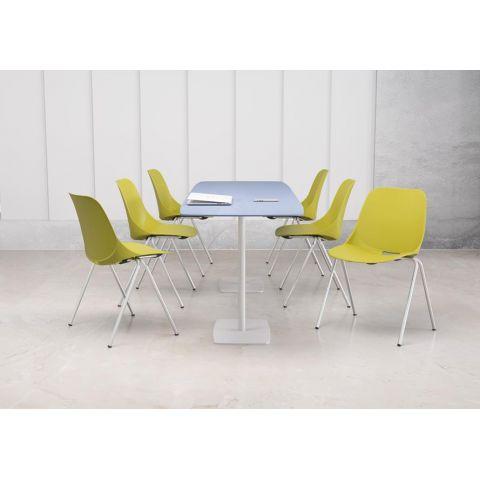 Móveis para Escritório: Cadeira Quick diálogo fixa 04 pés, Plaxmetal