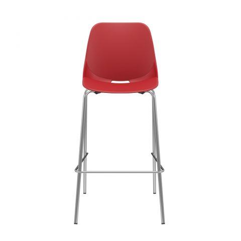 Móveis para Escritório: Cadeira Quick banqueta alta 04 pés, Plaxmetal