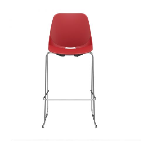 Móveis para Escritório: Cadeira Quick banqueta alta trapezoidal, Plaxmetal