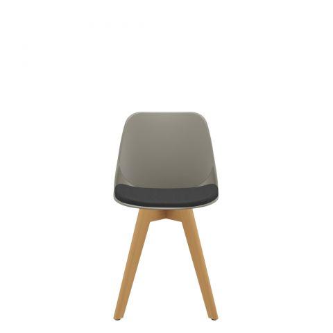 Móveis para Escritório: Cadeira Quick diálogo fixa 04 pés madeira, Plaxmetal