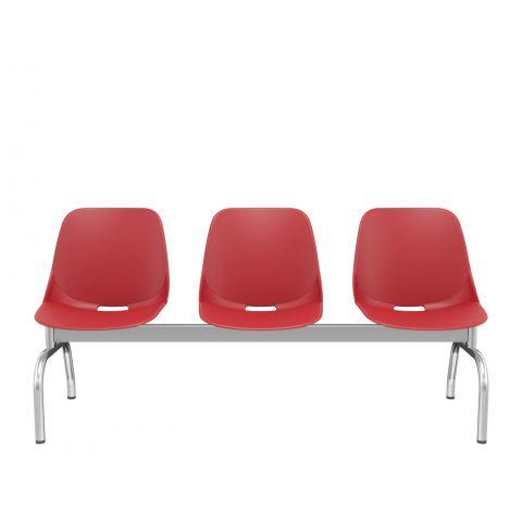 Móveis para Escritório: Cadeira Quick longarina pé metal, Plaxmetal