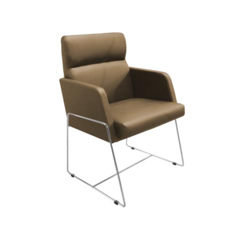 Móveis para Escritório: Cadeira da linha Amparo- secretária fixa com braço
