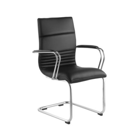 Móveis para Escritório: Cadeira da linha Comoditá secretária com braço fixa