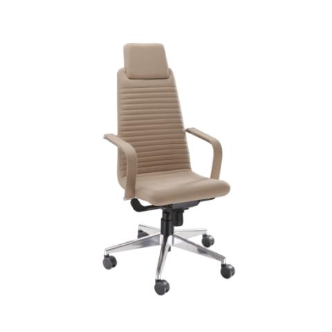 Móveis para Escritório: Cadeira da linha Personalitê presidente com apoio para cabeça
