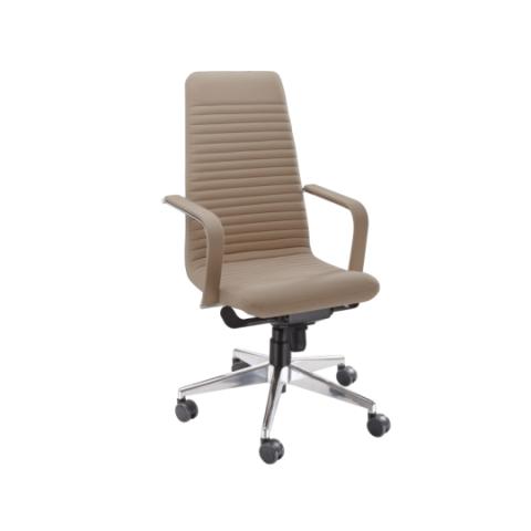 Móveis para Escritório: Cadeira da linha Personalitê presidente sem apoio para cabeça