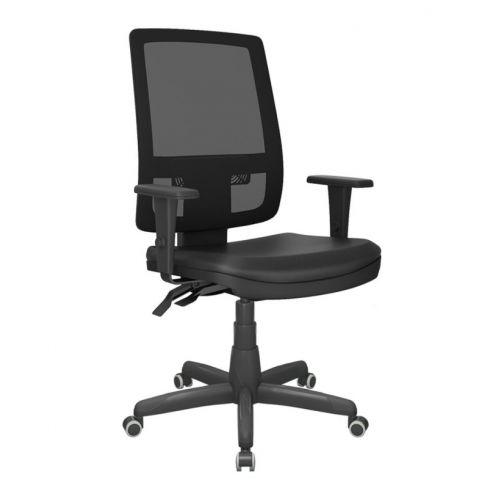 Móveis para Escritório: Cadeira Brizza tela presidente sem apoio de cabeça, Plaxmetal