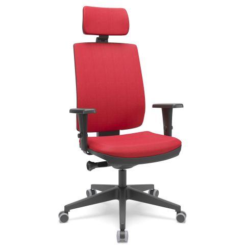 Móveis para Escritório: Cadeira Brizza soft  presidente com apoio de cabeça, Plaxmetal