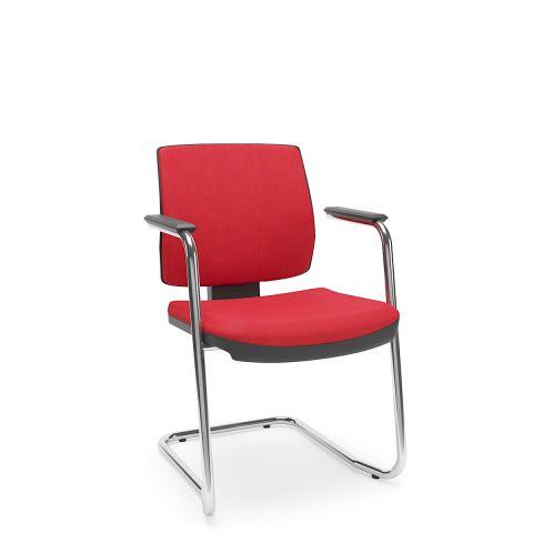 Móveis para Escritório: Conjunto de cadeira Brizza soft  aproximação em S, Plaxmetal