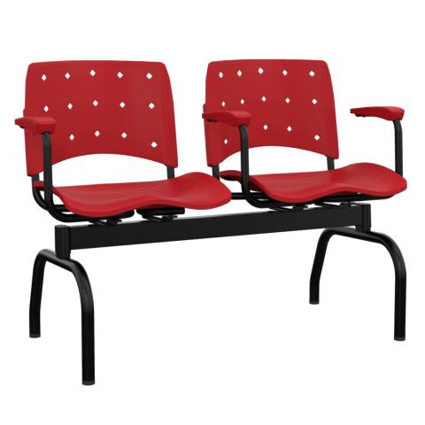 Móveis para Escritório: Cadeira Ergoplax  longarina - Plaxmetal