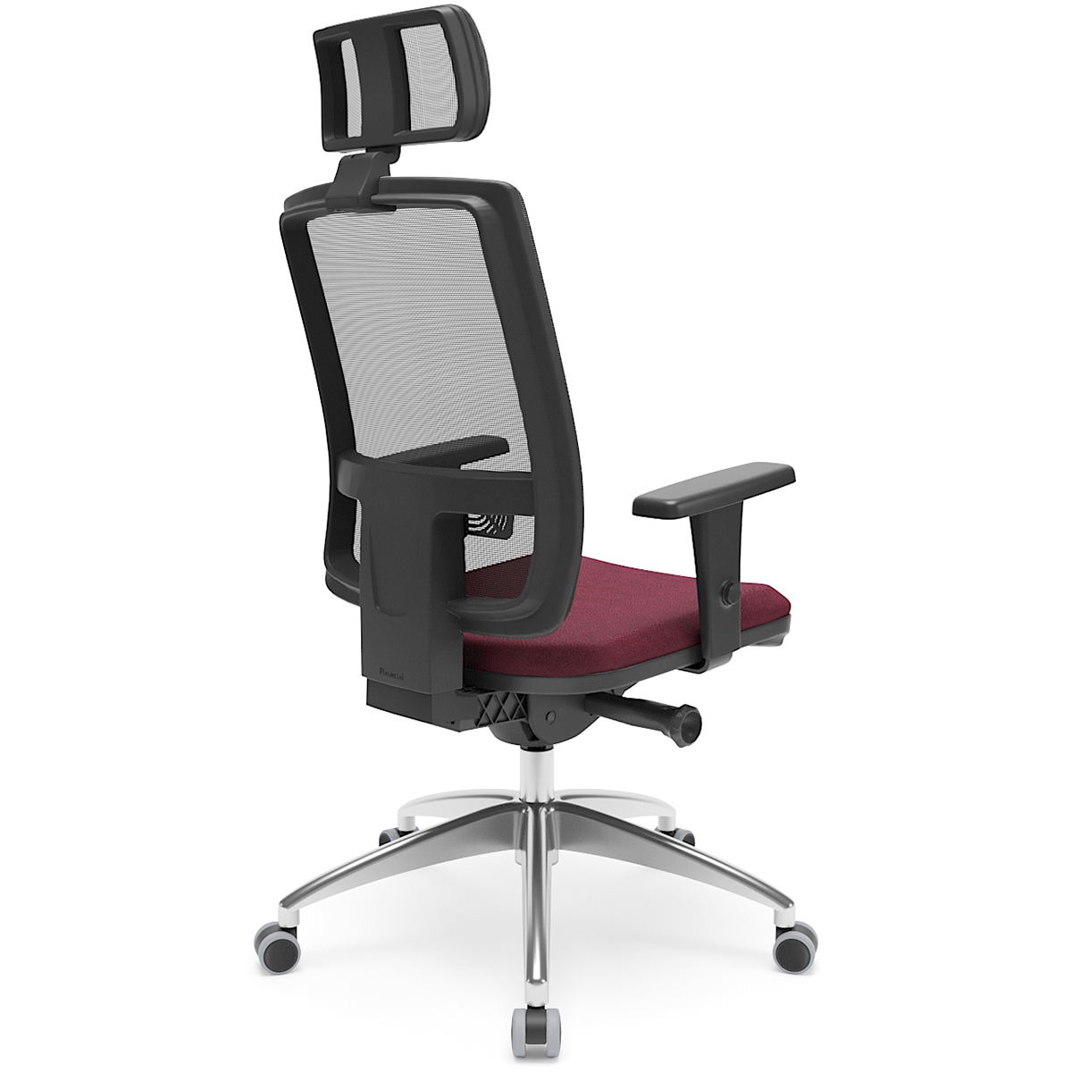 Cadeira Brizza tela presidente com apoio de cabeça, Plaxmetal